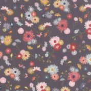 Moda Mon Ami by BasicGrey - 4292 - Jardin, Multicoloured Posies of Flowers on Grey - 30411 19 - Cotton Fabric